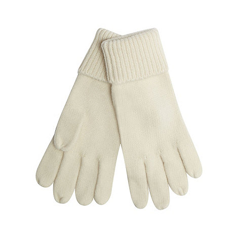 Red Herring - Cream knitted gloves