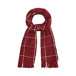Red Herring - Dark red checked scarf