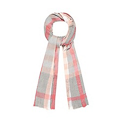 Red Herring - Pink and grey checked scarf