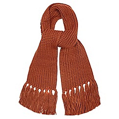 Red Herring - Dark orange knitted scarf