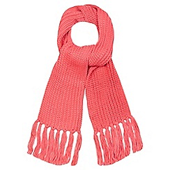 Red Herring - Pink knitted scarf