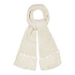 Red Herring - Cream knitted scarf