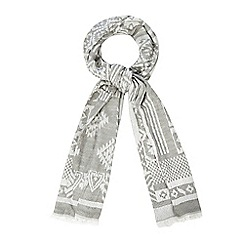 Red Herring - Grey jacquard woven scarf