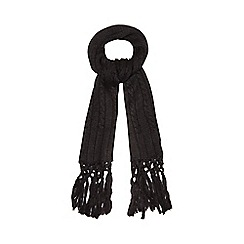 Red Herring - Black chunky knit oversized scarf