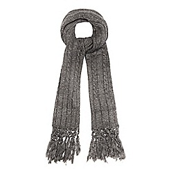 Red Herring - Grey chunky knit oversized scarf