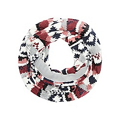 Red Herring - Multi-coloured Fair Isle knitted snood