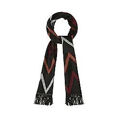 Red Herring - Black oversized zigzag print scarf