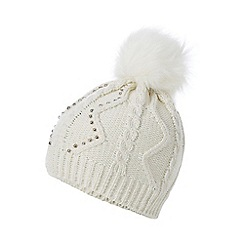 Star by Julien Macdonald - Cream faux fur pom pom hat