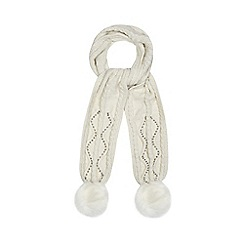 Star by Julien Macdonald - Cream faux fur pom pom scarf