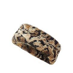 Star by Julien Macdonald - Leopard print faux fur headband