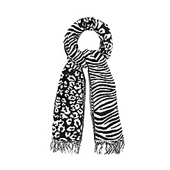 Star by Julien Macdonald - White leopard patterned scarf