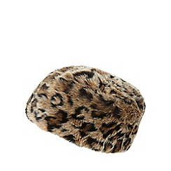 Star by Julien Macdonald - Leopard print faux fur cossack hat
