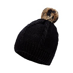 Star by Julien Macdonald - Black pom-pom knitted hat