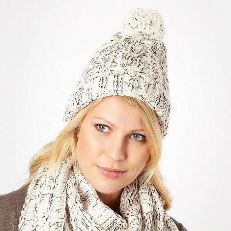 RJR.John Rocha - Cream shimmer spacedye knitted hat