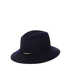 J by Jasper Conran - Navy metal trim wool fedora