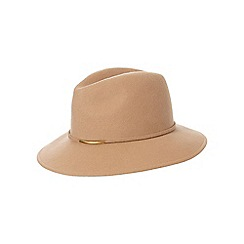 J by Jasper Conran - Camel metal trim wool fedora