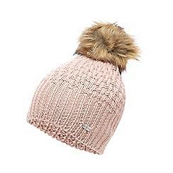 J by Jasper Conran - Pink faux fur pom knitted hat