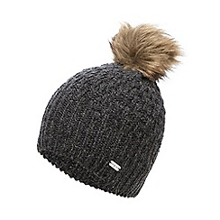 J by Jasper Conran - Grey fur pom knitted hat
