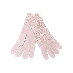 J by Jasper Conran - Pink knitted gloves