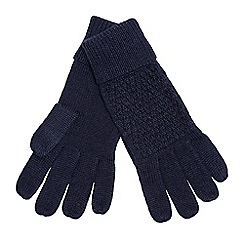 J by Jasper Conran - Navy knitted gloves