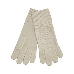 J by Jasper Conran - Cream knitted gloves with wool