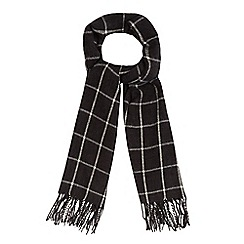 J by Jasper Conran - Grey checked scarf with wool