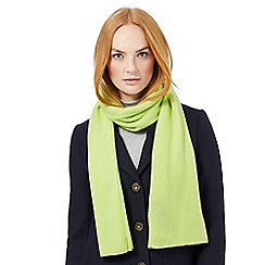 J by Jasper Conran - Lime green cashmere scarf