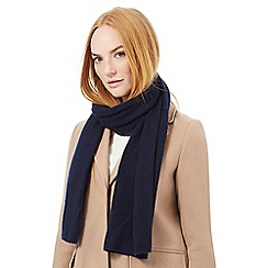 J by Jasper Conran - Navy blue cashmere scarf