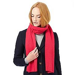 J by Jasper Conran - Bright pink cashmere scarf