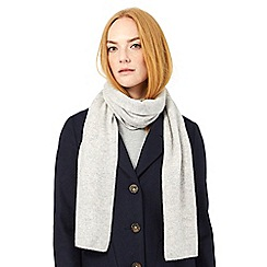 J by Jasper Conran - Heather grey cashmere scarf