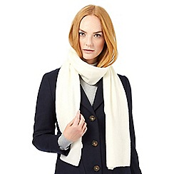 J by Jasper Conran - Ivory white cashmere scarf