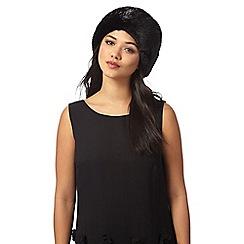 J by Jasper Conran - Black faux fur cossack hat