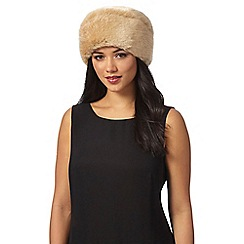 J by Jasper Conran - Cream faux fur cossack