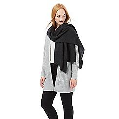 J by Jasper Conran - Grey oversized cashmere scarf