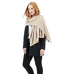 J by Jasper Conran - Camel oversized cashmere scarf