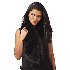 J by Jasper Conran - Black faux fur stole