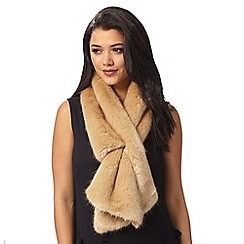J by Jasper Conran - Natural faux fur stole
