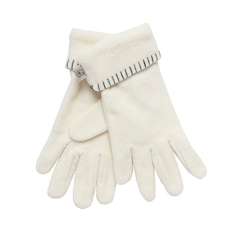 Mantaray - Cream roll cuff fleece gloves