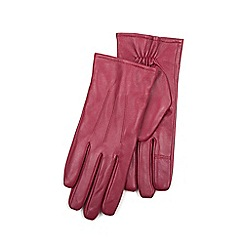 Isotoner - Ladies Red 3 Point Leather Glove