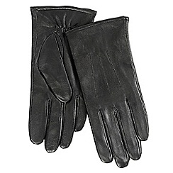 Isotoner - Ladies Black 3 Point Leather Glove