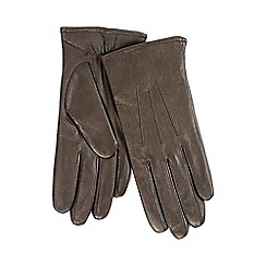 Isotoner - Ladies Chocolate 3 Point Leather Glove