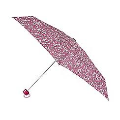 Isotoner - Supermini Raspberry Ditsy Floral Print Umbrella