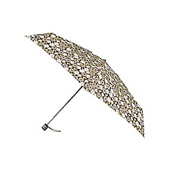 Isotoner - Miniflat Outline Floral Print Umbrella