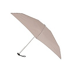 Isotoner - Mini Compact Round Umbrella in Novelty Sausage Dog Case