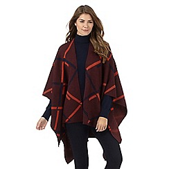 Principles by Ben de Lisi - Dark red geometric checked print reverse wrap