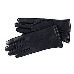 Isotoner - Navy 3 point leather gloves