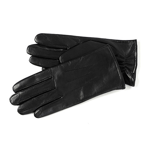 Isotoner - Black 3 point leather gloves