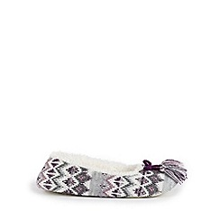 Isotoner - Ladies Fair Isle Ballet Slippers