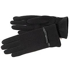 Isotoner - Black bow thermal gloves