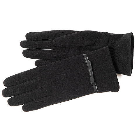 Isotoner - Black bow thermal gloves
